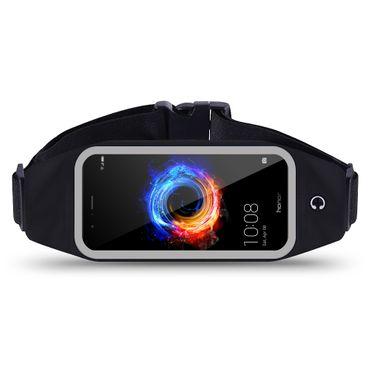 Huawei Honor 8 Tasche Hülle Schwarz Jogging Fitnesstasche Bauchtasche Lauf Case – Bild 1
