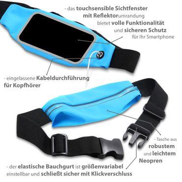 Huawei P10 Tasche Hülle Schwarz Jogging Fitnesstasche Bauchtasche Lauf Case Bag – Bild 5