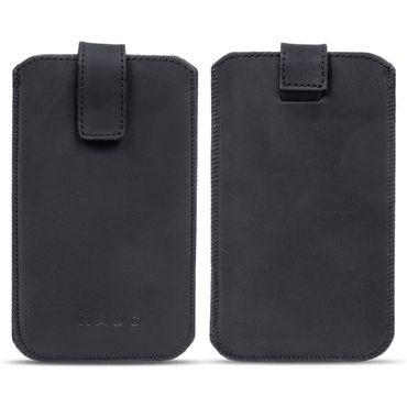 Leder Tasche für Apple iPhone 8 Handyhülle Cover Smartphone Pull Tab Case Hülle – Bild 5