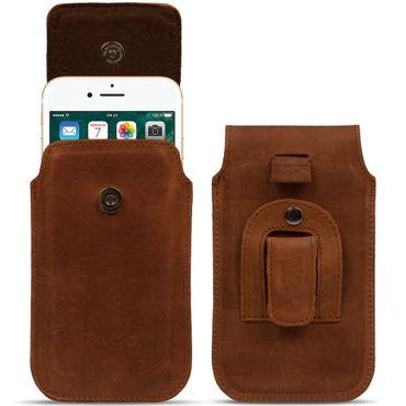 Apple iPhone 8 / 7 Leder Tasche Handy Hülle Sleeve Lederhülle Cover Schutzhülle – Bild 2