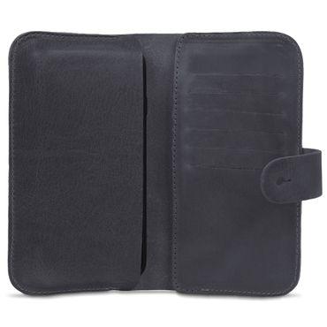 Apple iPhone X Leder Tasche Hülle Schwarz Sleeve Schutzhülle Handy Case Cover – Bild 3