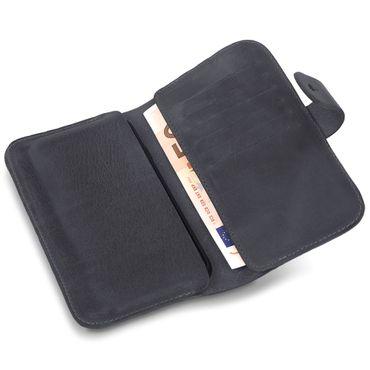 Apple iPhone X Leder Tasche Hülle Schwarz Sleeve Schutzhülle Handy Case Cover – Bild 6