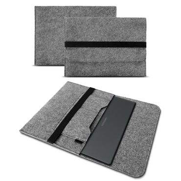 Sleeve Tasche für Medion Akoya P6670 Hülle Cover Notebook Filz Laptop Case Grau