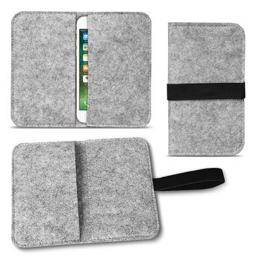 Filz Hülle für Apple iPhone 7 / 8 Tasche Cover Smartphone Case Flip Schutzhülle – Bild 2