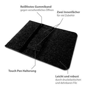 Sleeve Hülle für Medion Akoya P7652 Tasche Filz Notebook Cover Laptop Case Grau – Bild 15