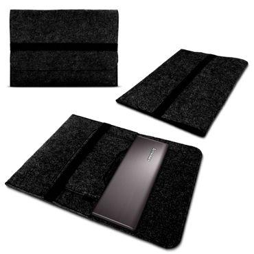 Lenovo IdeaPad 120s / 110s 11,6 Tasche Sleeve Hülle Cover Case Filz Dunkelgrau – Bild 1