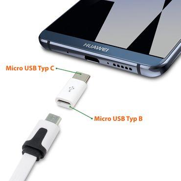 2x USB Adapter Typ C Stecker Smartphone Handy Tablet Buchse Micro USB auf USB C  – Bild 7