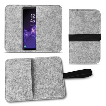 Filz Tasche Samsung Galaxy S20 S10 S10e S9 Plus Hülle Cover Handy Schutzhülle – Bild 9