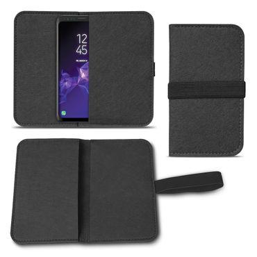 Filz Tasche für Samsung Galaxy S9 / S9 Plus Hülle Cover Handy Case Schutzhülle  – Bild 2