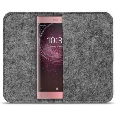 Filz Tasche für Sony Xperia XZ2 Compact Hülle Cover Handy Case Schutzhülle Etui – Bild 3