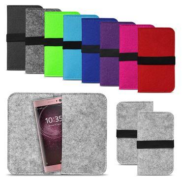 Filz Tasche für Sony Xperia XZ2 Compact Hülle Cover Handy Case Schutzhülle Etui – Bild 1