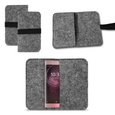 Filzhülle Sony Xperia XA2 Handy Filz Tasche Hülle Cover Schutzhülle Sleeve Case – Bild 8