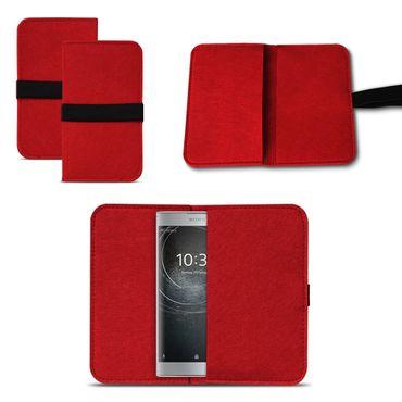 Filzhülle Sony Xperia XA2 Handy Filz Tasche Hülle Cover Schutzhülle Sleeve Case – Bild 20