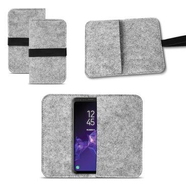 Smartphone Tasche Samsung Galaxy S9 / S9 Plus Cover Schutzhülle Sleeve Filz – Bild 2