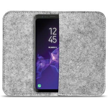 Smartphone Tasche Samsung Galaxy S9 / S9 Plus Cover Schutzhülle Sleeve Filz – Bild 3