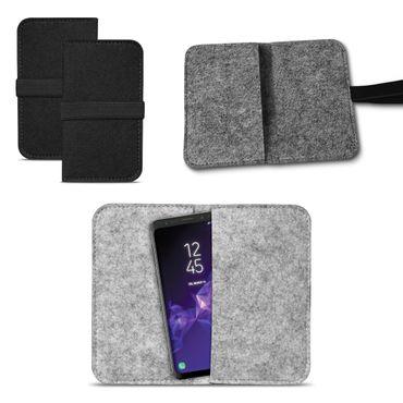 Smartphone Tasche Samsung Galaxy S9 / S9 Plus Cover Schutzhülle Sleeve Filz – Bild 1