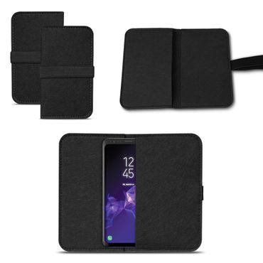 Smartphone Tasche Samsung Galaxy S9 / S9 Plus Cover Schutzhülle Sleeve Filz – Bild 14