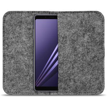Smartphone Tasche Samsung Galaxy A8 Duos 2018 Cover Schutzhülle Sleeve Filz – Bild 9