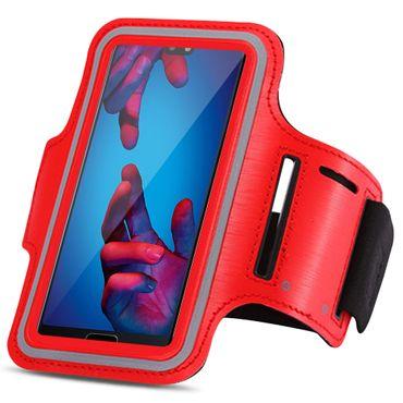 Huawei P20 Lite Jogging Tasche Handy Hülle Sportarmband Fitnesstasche Lauf Case – Bild 4