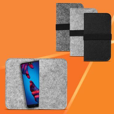 Filz Hülle Tasche Huawei P20 Cover Handy Case Universal Schutzhülle Schutz Etui – Bild 1