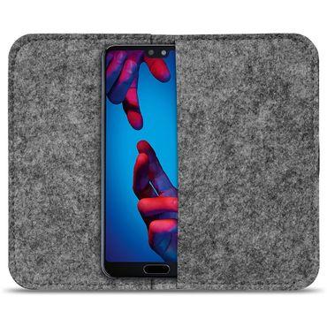 Smartphone Tasche für Huawei P20 Hülle Cover Schutzhülle Sleeve Filz Handy Case – Bild 9