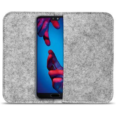 Smartphone Tasche Huawei P20 Lite Hülle Cover Schutzhülle Sleeve Filz Handy Case – Bild 3