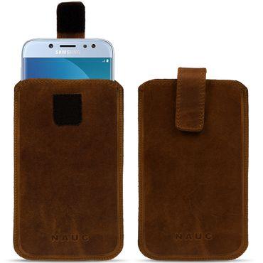 Handyhülle Leder Hülle Samsung Galaxy Serie Schutz Pull Tab Tasche Handy Socke – Bild 12