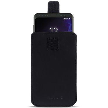 Handyhülle Leder Hülle Samsung Galaxy Serie Schutz Pull Tab Tasche Handy Socke – Bild 4