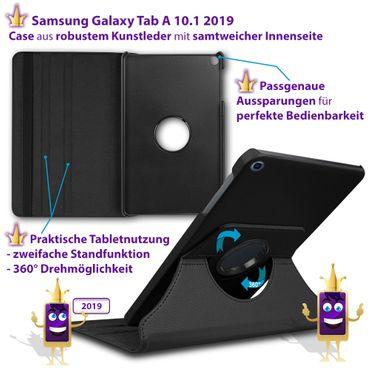 Tablet Tasche Schutzfolie Samsung Galaxy Tab A 10.1 2019 Hülle Case Schutzhülle – Bild 9