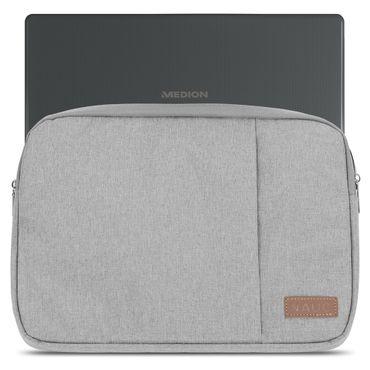 Notebook Tasche Medion Akoya E3216 Hülle Schutzhülle Schwarz / Grau Cover Case – Bild 9