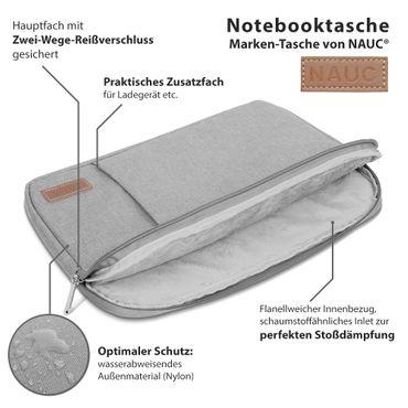 Notebook Tasche Medion Akoya E3216 Hülle Schutzhülle Schwarz / Grau Cover Case – Bild 15