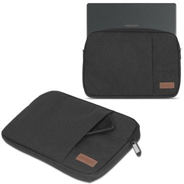 Notebook Tasche Medion Akoya E3216 Hülle Schutzhülle Schwarz / Grau Cover Case – Bild 2
