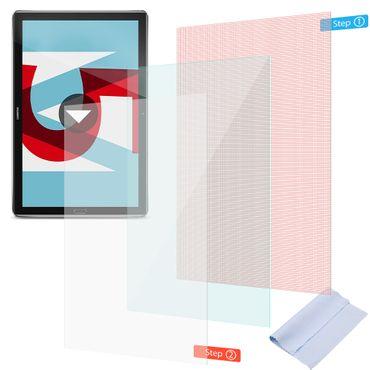 Huawei MediaPad T5 Schutzfolie 3x Displayschutz Panzerfolie Universal 10.1 Folie – Bild 1