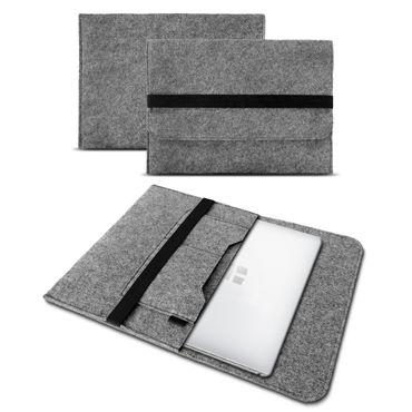 Sleeve Hülle TrekStor Surfbook E11B Tasche Filz Notebook Cover Schutz Case Grau – Bild 2