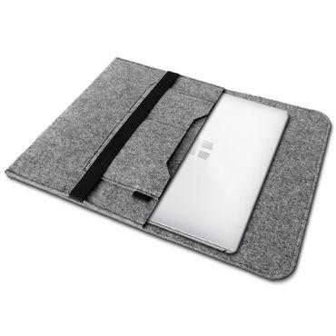 Sleeve Hülle Trekstor Surftab Theatre S11 Tasche Filz Notebook Cover Schutz Case Grau – Bild 3