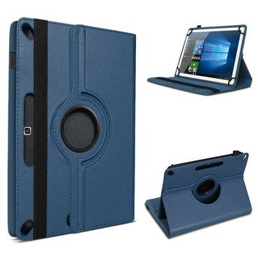 Tablet Tasche für 10 - 10.1 Zoll Hülle Schutzhülle Cover Case Blau 360° Drehbar