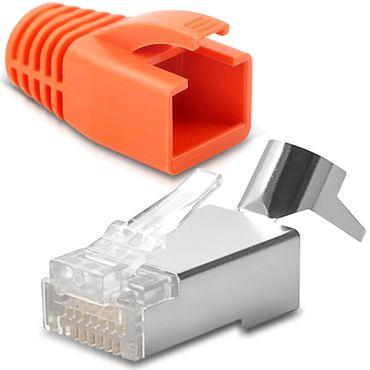2x Netzwerkstecker CAT7 CAT6 CAT6A RJ45 Netzwerk DSL Stecker vergoldete Kontakte – Bild 6