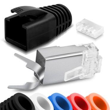 Netzwerkstecker CAT 7 CAT 6 CAT 6A RJ45 Netzwerk LAN Stecker vergoldete Kontakte – Bild 1