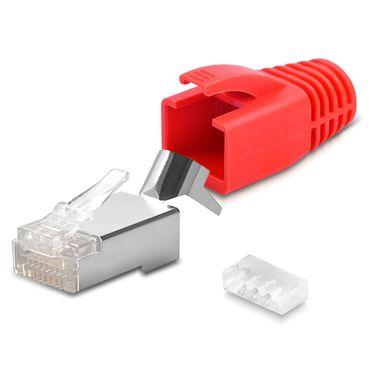 Netzwerkstecker CAT 7 CAT 6 CAT 6A RJ45 Netzwerk LAN Stecker vergoldete Kontakte – Bild 16