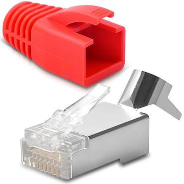 Netzwerkstecker CAT 7 CAT 6 CAT 6A RJ45 Netzwerk LAN Stecker vergoldete Kontakte – Bild 18