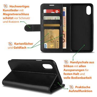 Schutzhülle Apple iPhone Xs Max Handy Tasche Klapphülle Hülle Case Schutz Cover – Bild 8