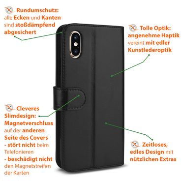 Schutzhülle Apple iPhone Xs Max Handy Tasche Klapphülle Hülle Case Schutz Cover – Bild 9