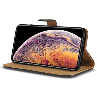Klapphülle Apple iPhone Xs Max Leder Tasche Cover Flip Case Hülle Schutzhülle  – Bild 2