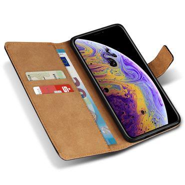 Apple iPhone Xs Max Xr X Schutzhülle Handy Tasche Echt Leder Cover Flip Case – Bild 16
