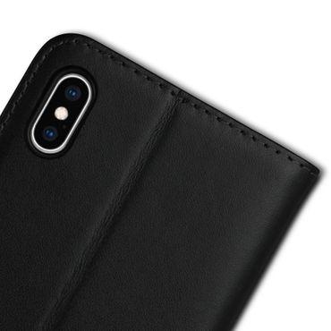Apple iPhone Xs Max Xr X Schutzhülle Handy Tasche Echt Leder Cover Flip Case – Bild 20