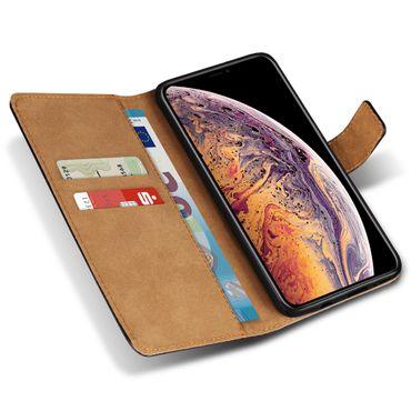 Apple iPhone Xs Max Xr X Schutzhülle Handy Tasche Echt Leder Cover Flip Case – Bild 2