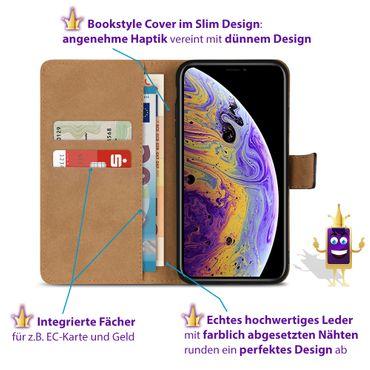 Klapphülle Apple iPhone X Leder Tasche Cover Flip Slim Case Hülle Schutzhülle  – Bild 9