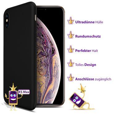 Apple iPhone Xs Max Hülle Silikon Schutzhülle Tasche Case Backcover Handy Bumper – Bild 8