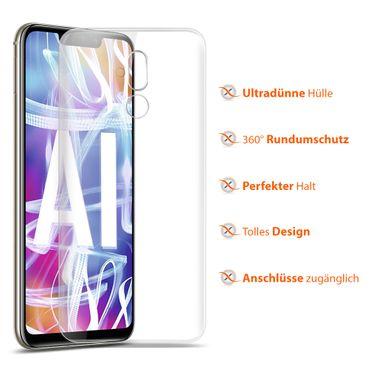 Handy Hülle Huawei Mate 20 Lite Bumper Case Silikon Ultra Slim Tasche Klar Cover – Bild 8