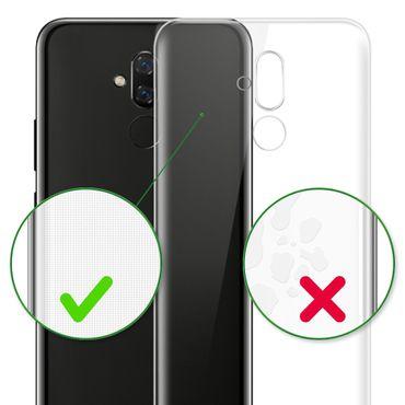 Handy Hülle Huawei Mate 20 Lite Bumper Case Silikon Ultra Slim Tasche Klar Cover – Bild 9